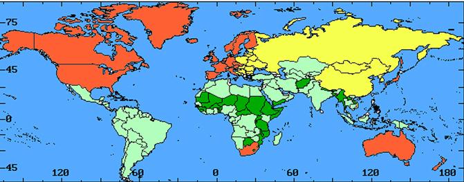 Реферат политическая карта мира