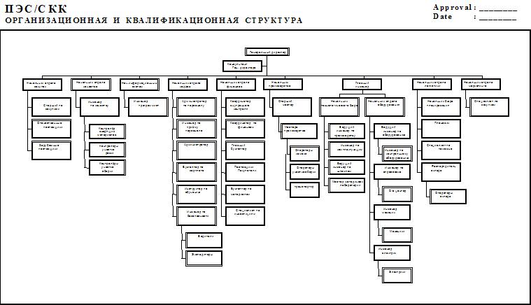 Организационная структура ПЭС/